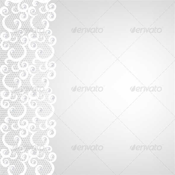 Card with Lace Border - Backgrounds Decorative