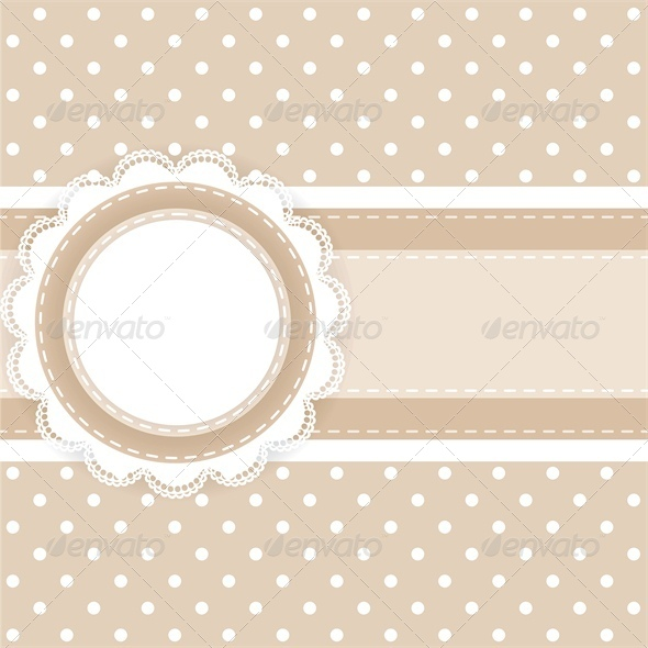 Scrapbooking Card with Lace and Ribbon - Backgrounds Decorative