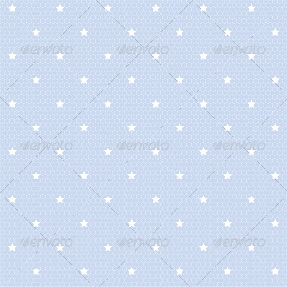 Seamless Net Pattern with Stars - Backgrounds Decorative