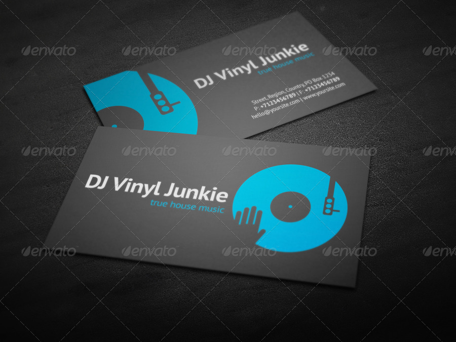Vinyl DJ Business Card by vinyljunkie | GraphicRiver