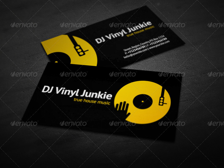 Vinyl Dj Business Card By Vinyljunkie Graphicriver