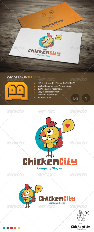 Chicken City Logo - Vector Abstract