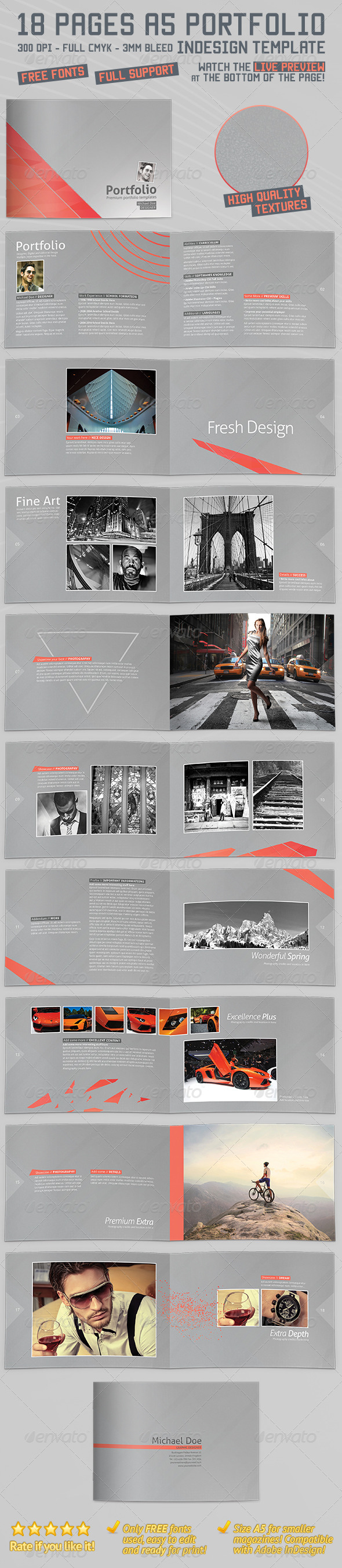 A5 Landscape Portfolio Brochure/Booklet - Portfolio Brochures