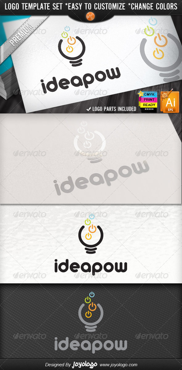Computer Electronics IT Business Idea Power Logo - Objects Logo Templates