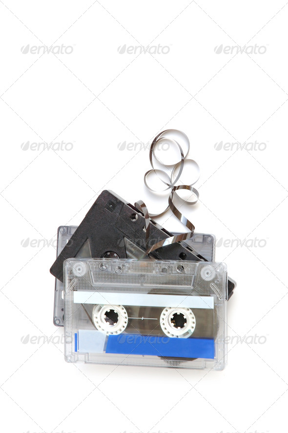 Group of cassette tapes - Stock Photo - Images