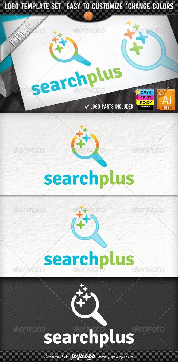 SEO Optimize Company Pixel Plus Search Logo - Symbols Logo Templates