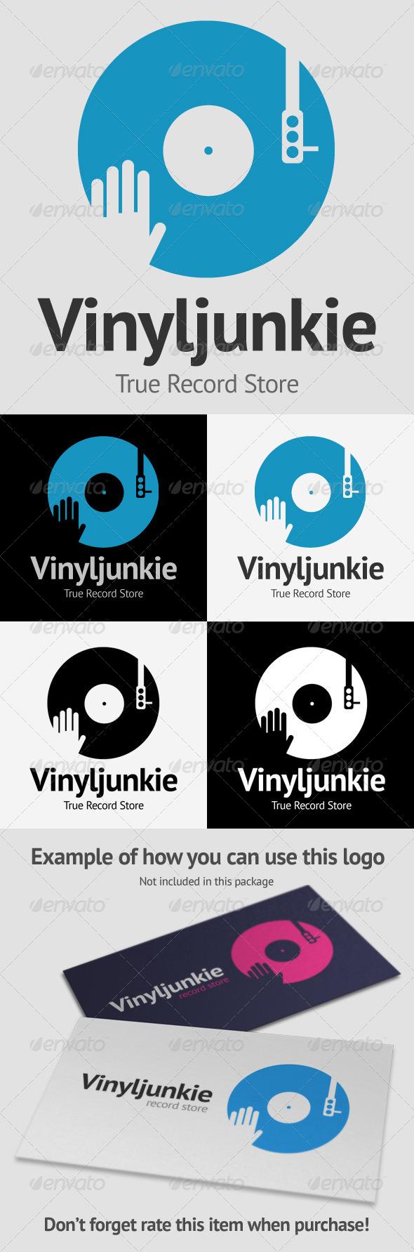 Scratch Vinyl DJ Logo - Symbols Logo Templates