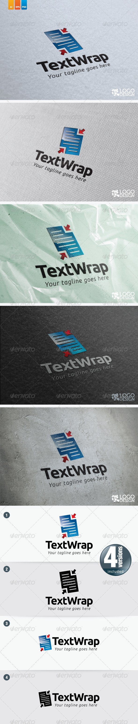 TextWrap - Objects Logo Templates