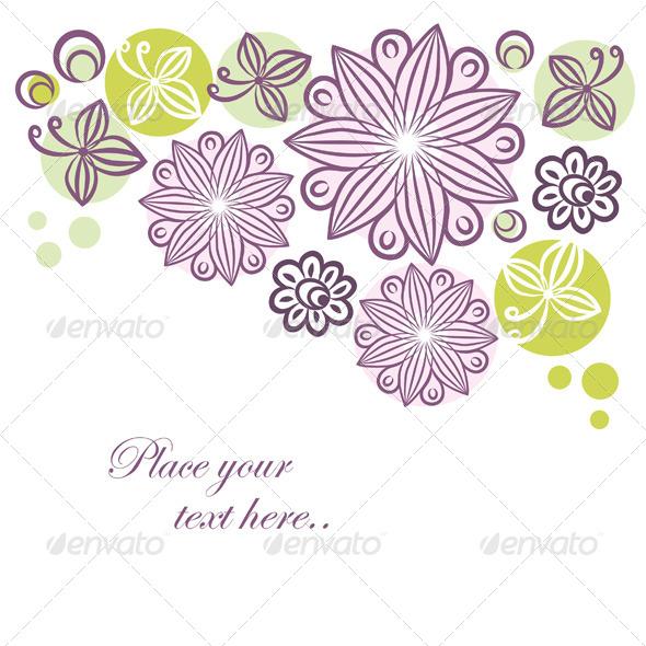Floral Retro Banner - Backgrounds Decorative