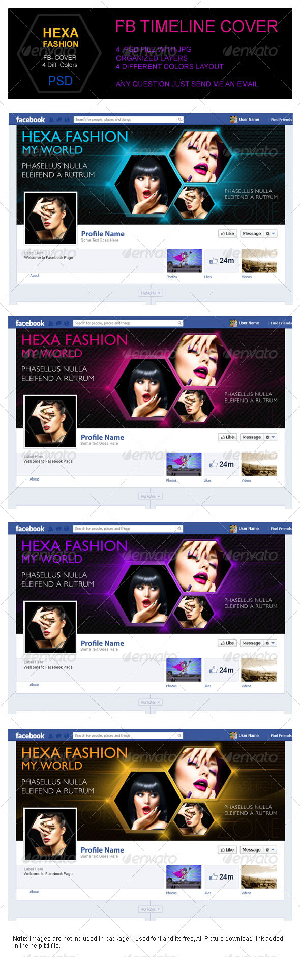 Hexa Fashion FB Timeline Cover - Facebook Timeline Covers Social Media