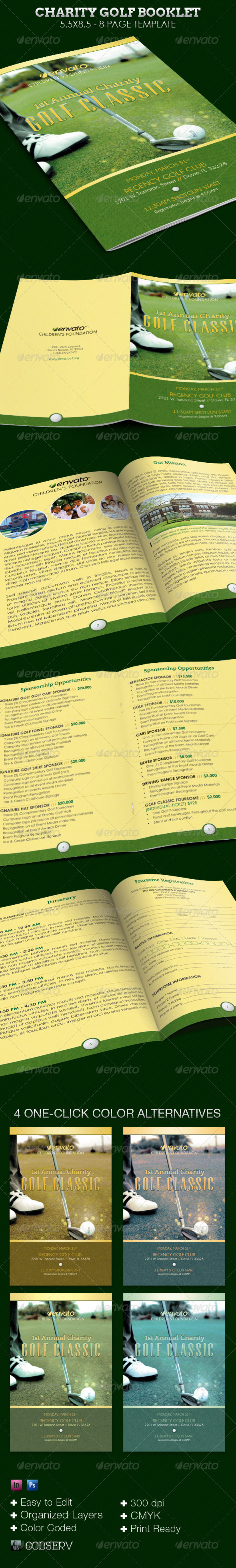 Charity Golf Booklet Template - Print Templates