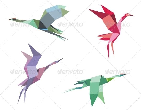 Cranes and Herons - Animals Characters