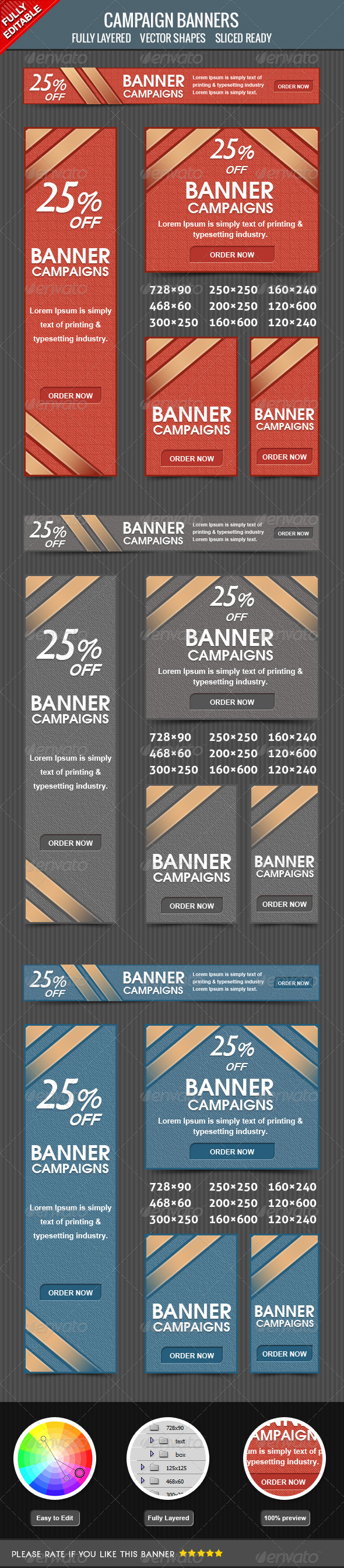 Campaign Banners - Banners & Ads Web Elements