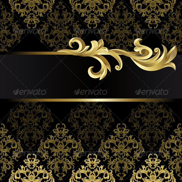 Black And Golden Background By ElenaShow