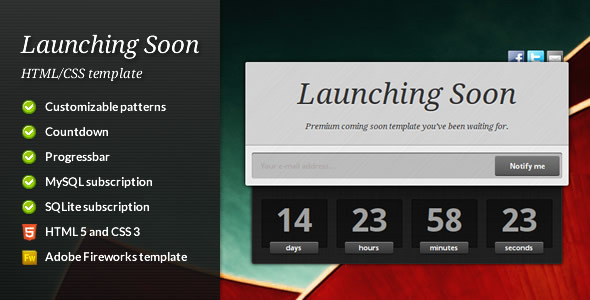 Launching Soon - Premium Coming Soon Template - Under Construction Specialty Pages