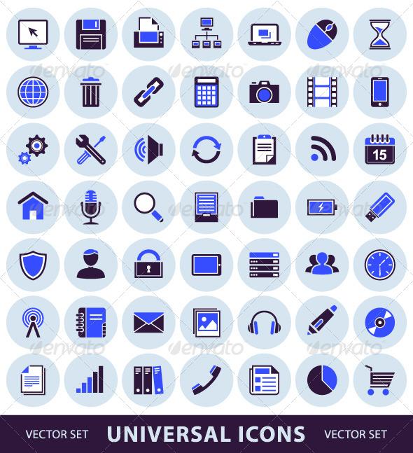 Universal Computer Icons - Vectors
