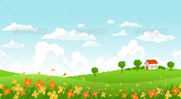 Sunny Day Landscape - Landscapes Nature