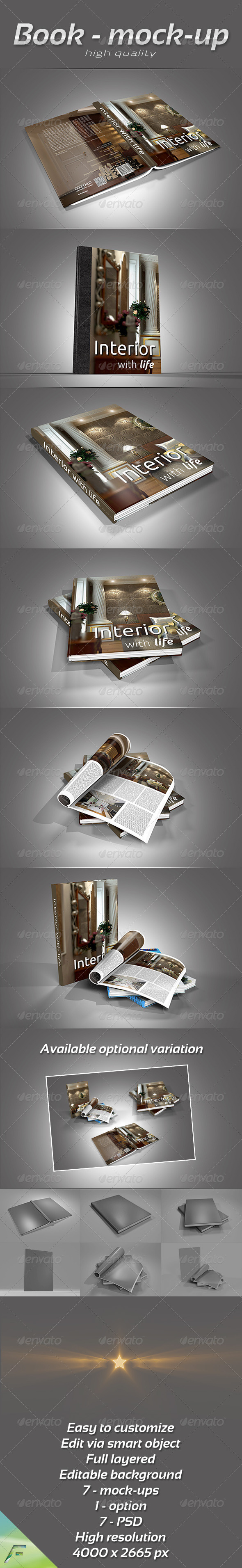 Book Collection Mock-Up - Print Product Mock-Ups