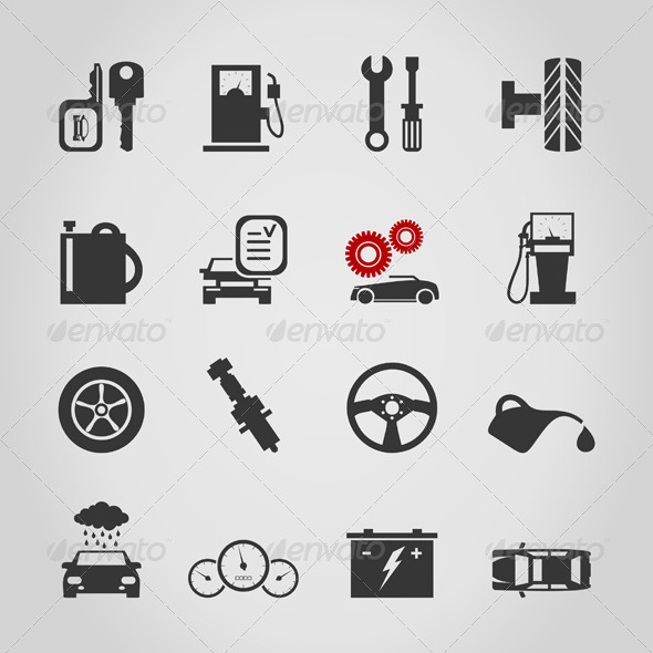 Car Icon 4 - Man-made Objects Objects