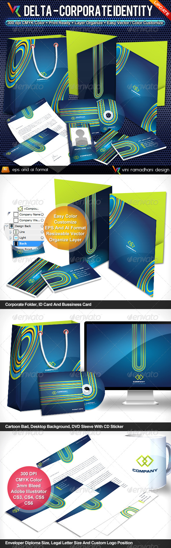 Delta Corporate Identity - Stationery Print Templates
