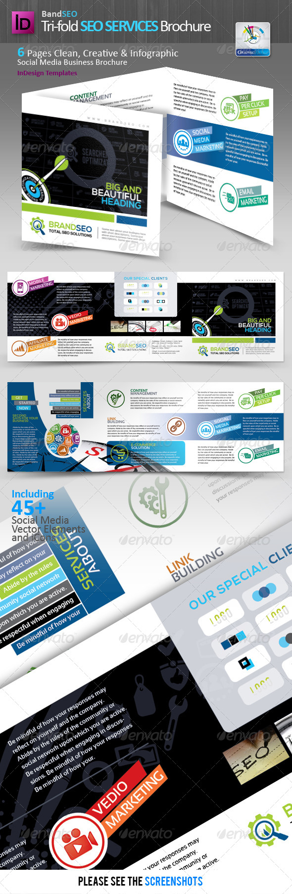BrandSEO Tri-fold SEO Services Brochure - Corporate Brochures