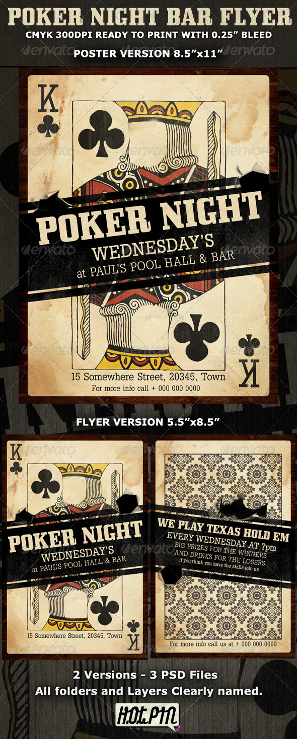 Poker Flyers Carnavaljmsmusicco - Poker tournament flyer template word