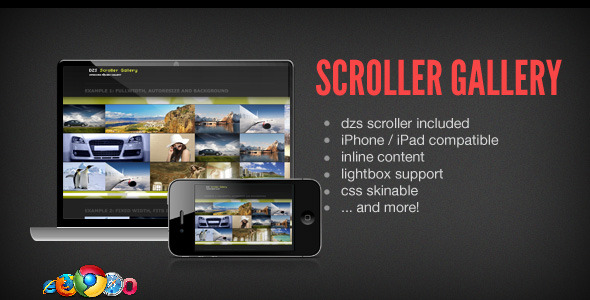 DZS Scroller Gallery - Cool jQuery Media Gallery - CodeCanyon Item for Sale