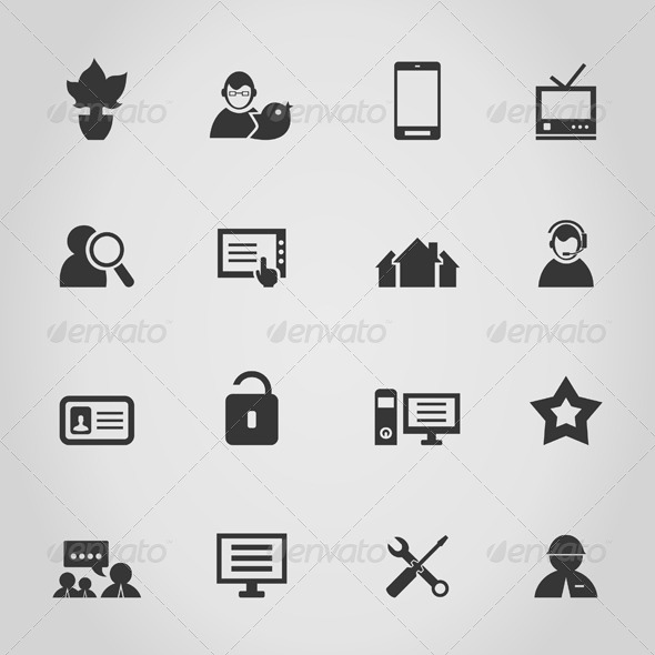 Icon the Internet - Web Elements Vectors