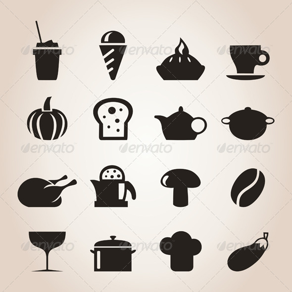 Meal Icons 7 - Food Objects