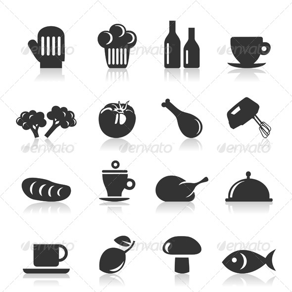 Meal Icons 8 - Food Objects