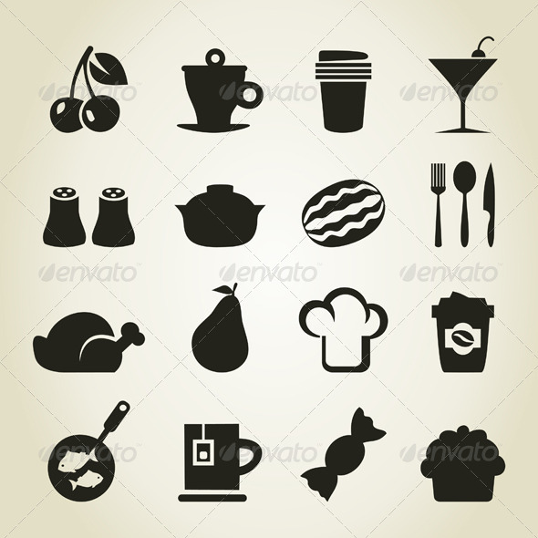 Meal Icons 9 - Food Objects