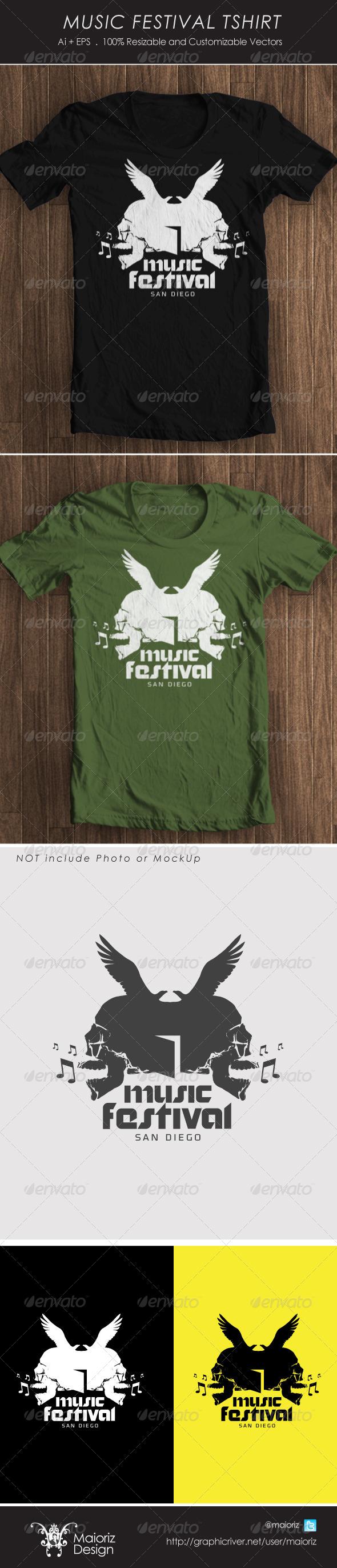 Music Fest Tshirt - T-Shirts