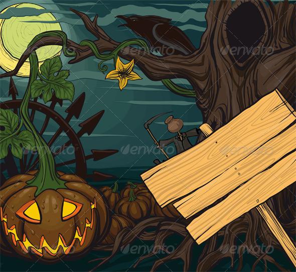 Halloween pumpkin jack-o-lanterns - Halloween Seasons/Holidays