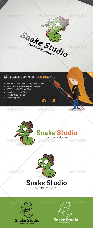 Snake Studio Logo - Animals Logo Templates
