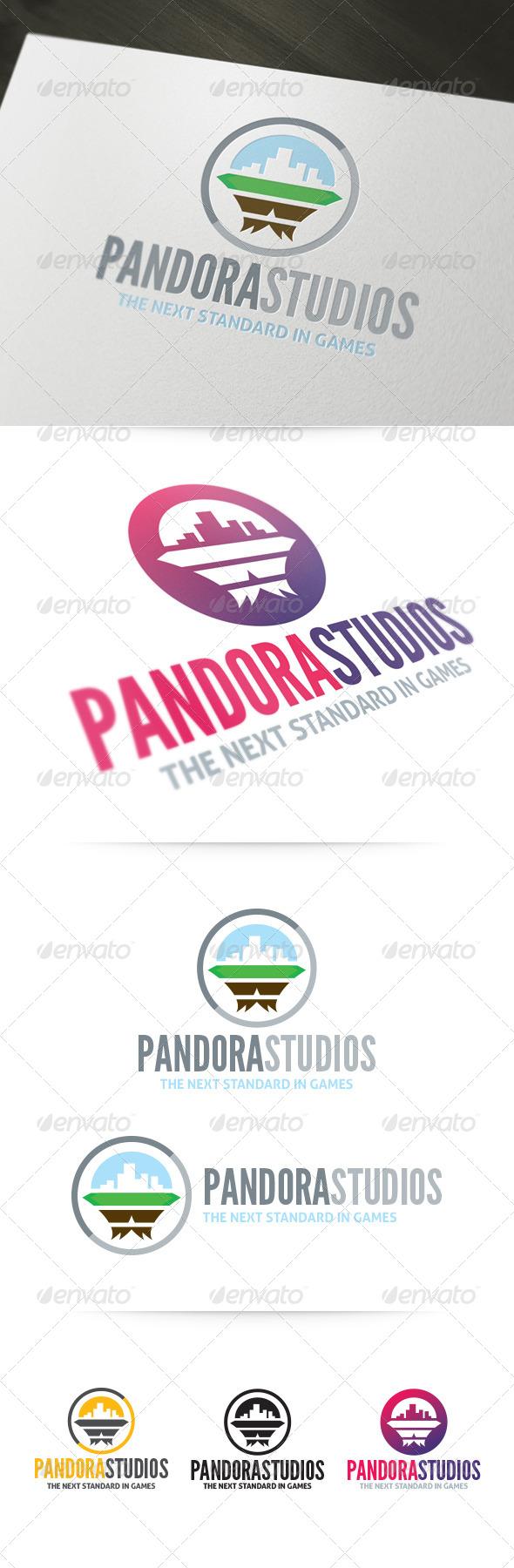 Pandora Studios Logo - Abstract Logo Templates