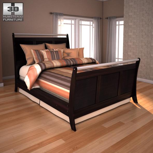 ashley pinella sleigh bedroom set 3docean item for sale