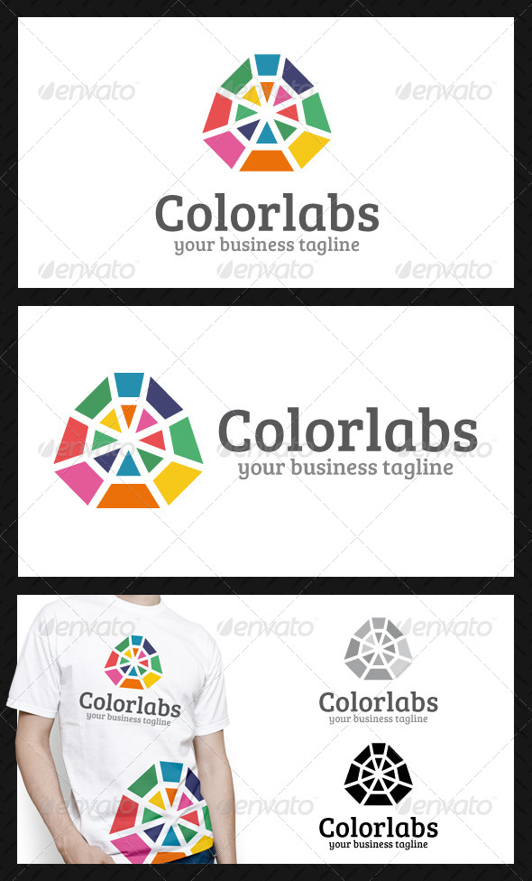 Color Labs Logo Template - Vector Abstract