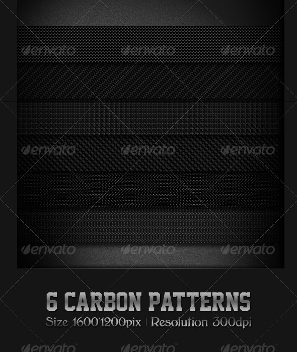 6 Carbon Patterns - Patterns Backgrounds