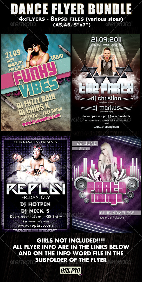 Dance Party-Club Flyer Bundle - Clubs & Parties Events