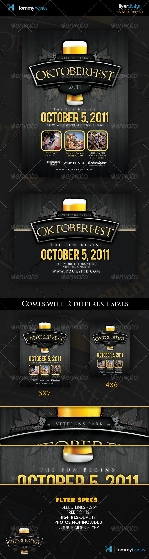 Oktoberfest Event Flyer Template - Holidays Events