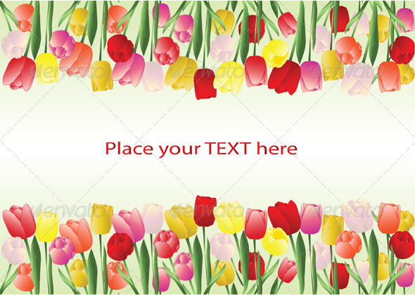 Tulips Frame - Borders Decorative