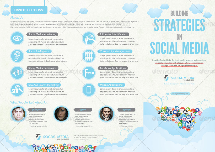 Social Media Proposal Templates Pasoevolistco - Social media business plan template