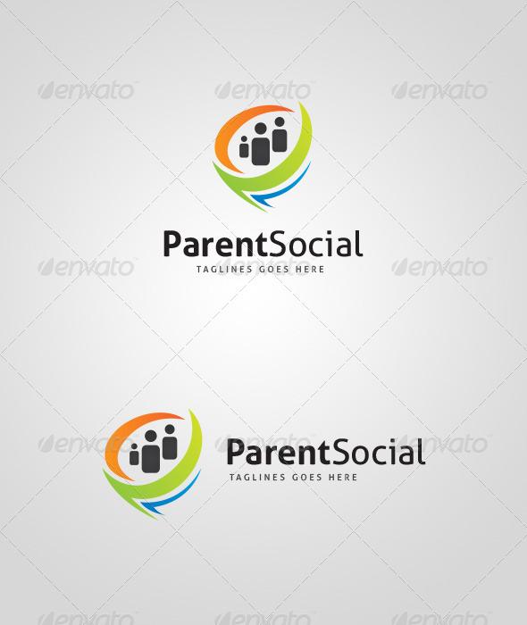 ParentSocial Logo Design - Abstract Logo Templates