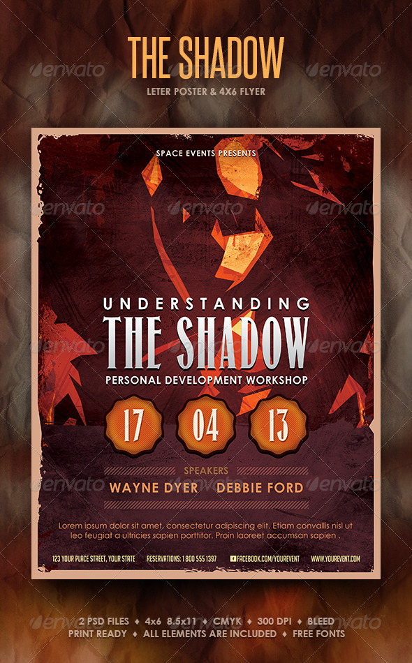 The Shadow Poster and Flyer - Events Flyers