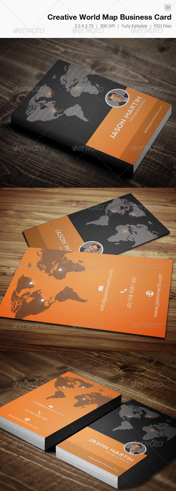 Creative World Map Business Card - 04 - Creative Business Cards