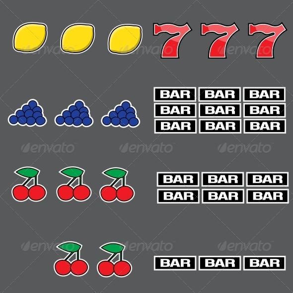 Set of Slot Combination - Sprites Game Assets