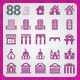 88 AI and PSD Building Icons - GraphicRiver Item for Sale