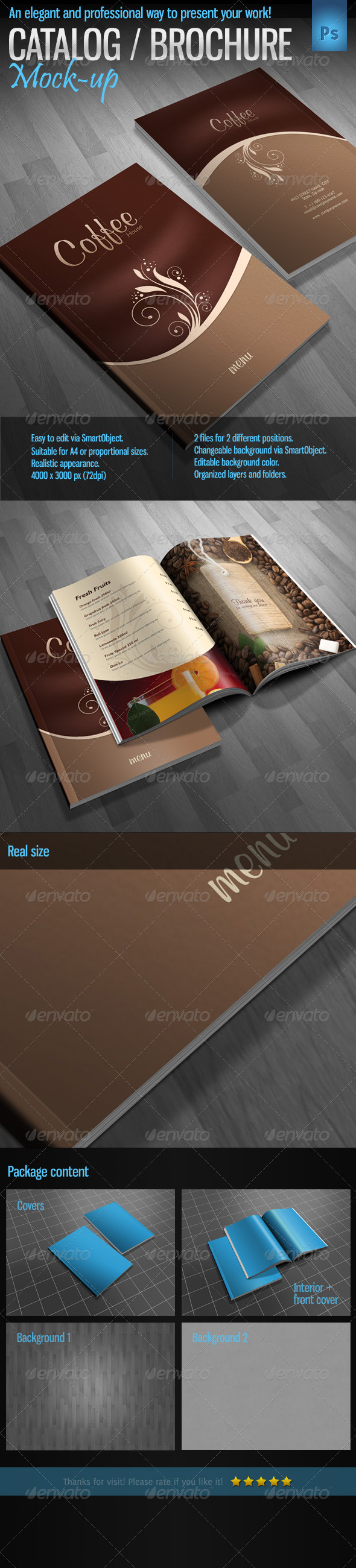 Brochure / Catalog / Magazine Mock-Up - Product Mock-Ups Graphics