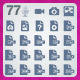 77 AI and PSD Documents strict Icons  - GraphicRiver Item for Sale