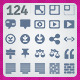 124 AI and PSD Layout strict Icons  - GraphicRiver Item for Sale